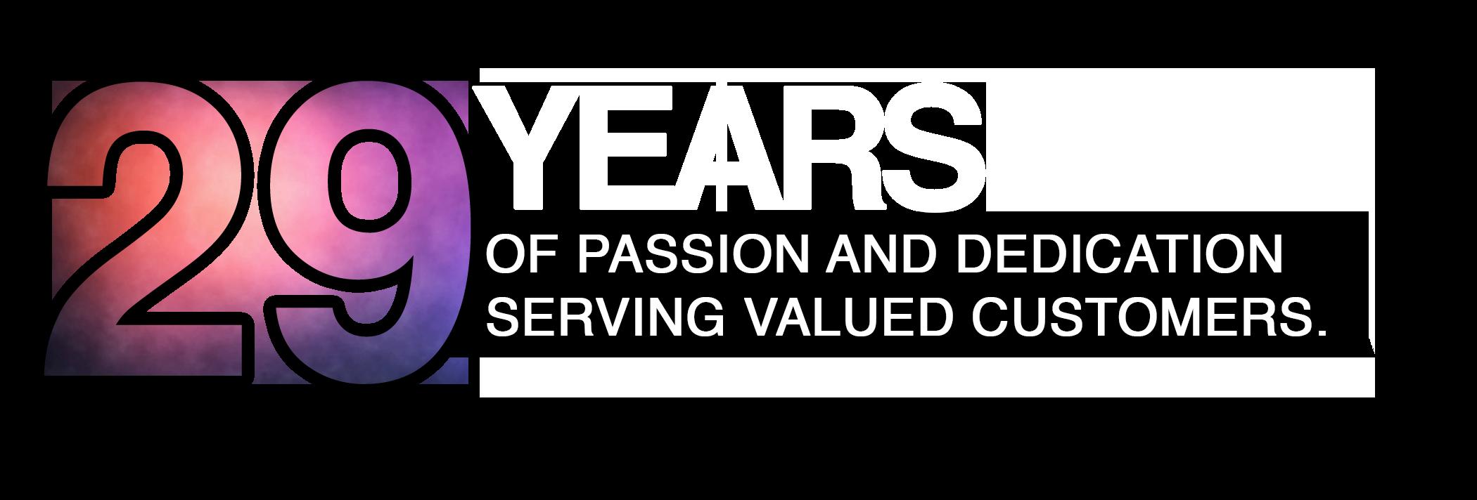 29 Years Graphic