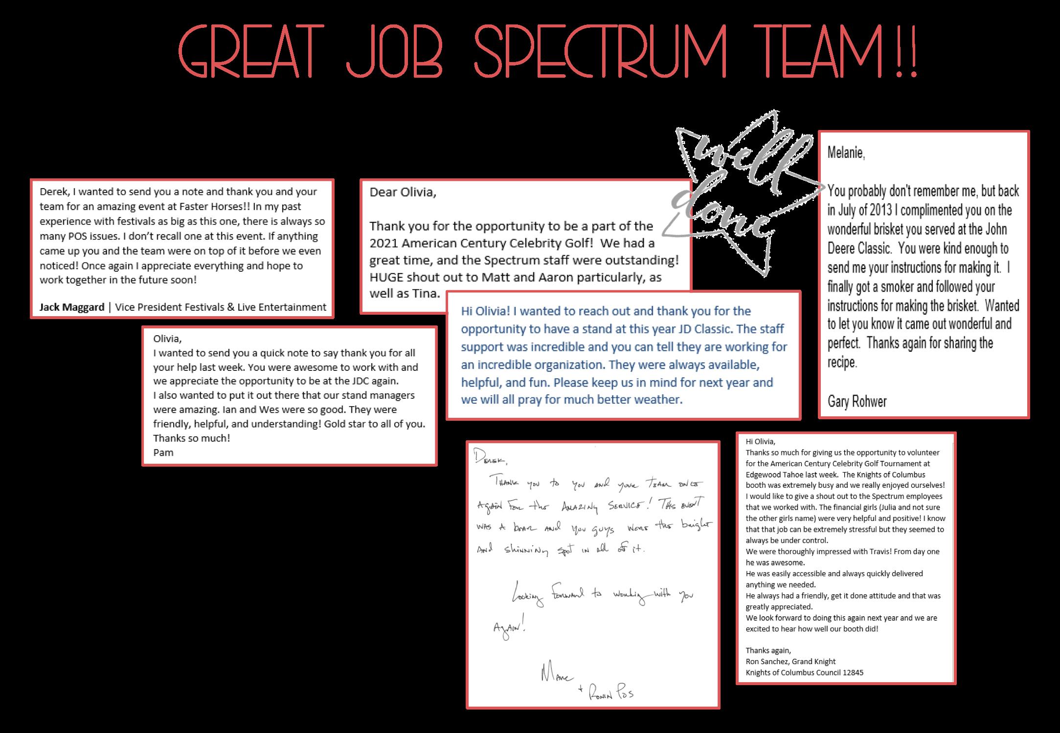 August 2021 Great Job Spectrum